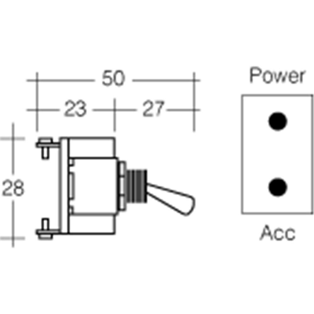1 NARVA PLASTIC TOGGLE LED RED BL Switch 60258BL