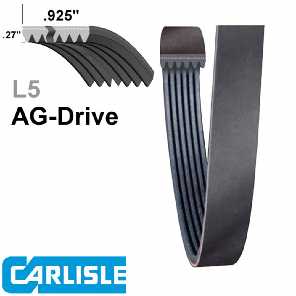 CARLISLE SUPER AG-DRIVE BELT 500L5 INDENT ITEM CHECK AVAILABILITY