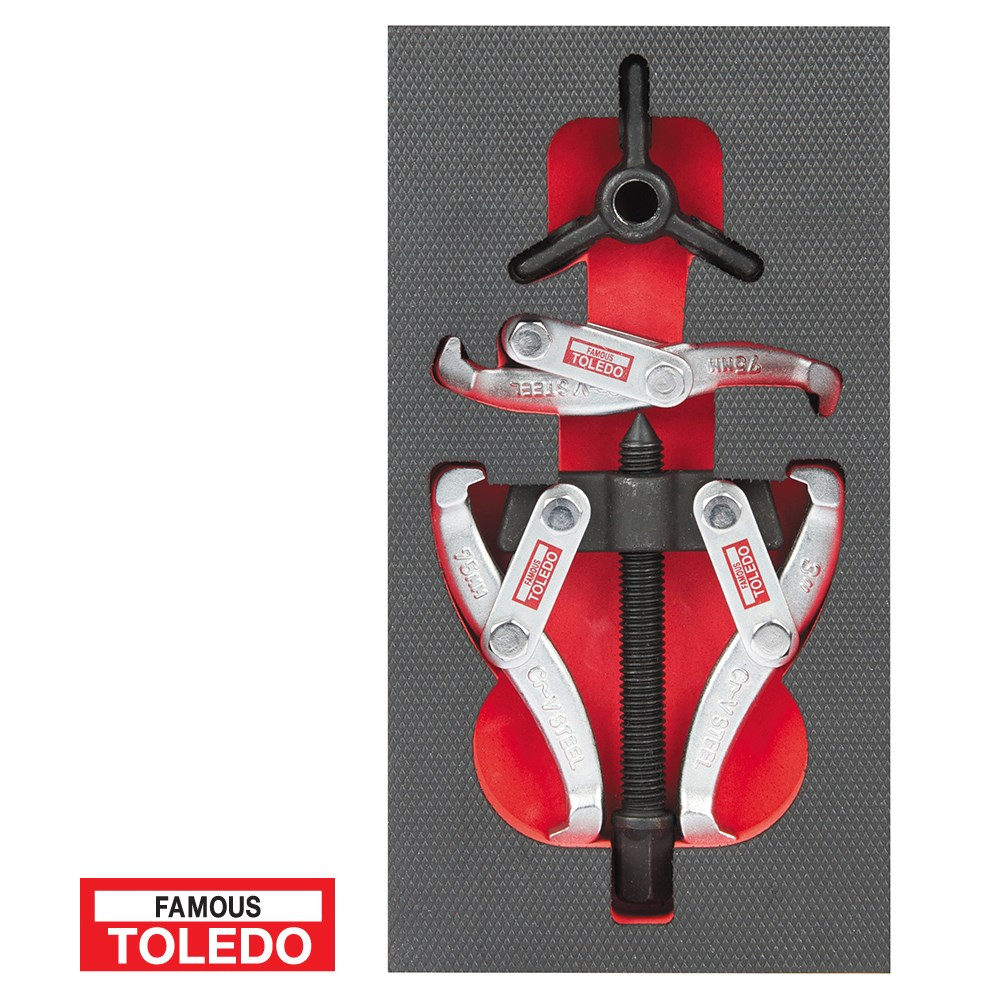 TOLEDO MECHANIC PULLER SET 2&3 LEG 150MM SPREAD 120MM REACH