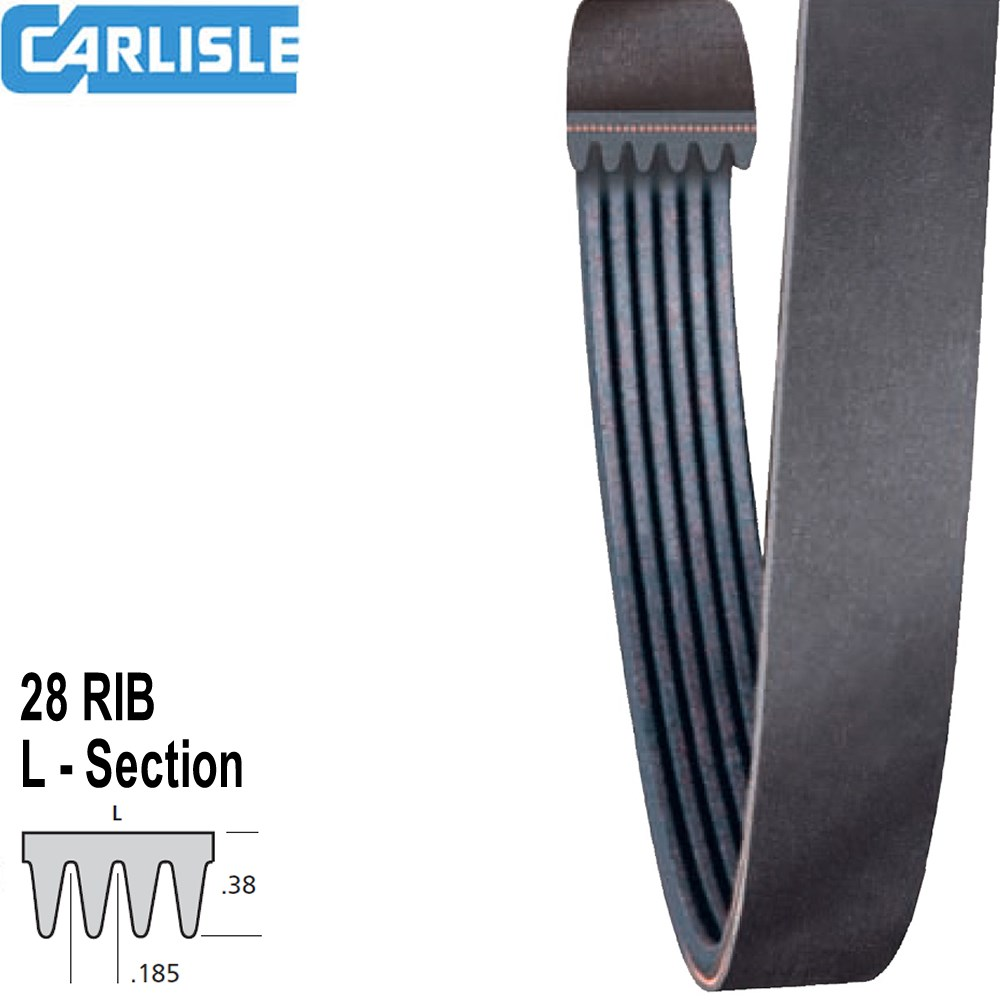 CARLISLE SUPER AG-DRIVE BELT 28FPL2324 INDENT ITEM CHECK AVAILABILITY
