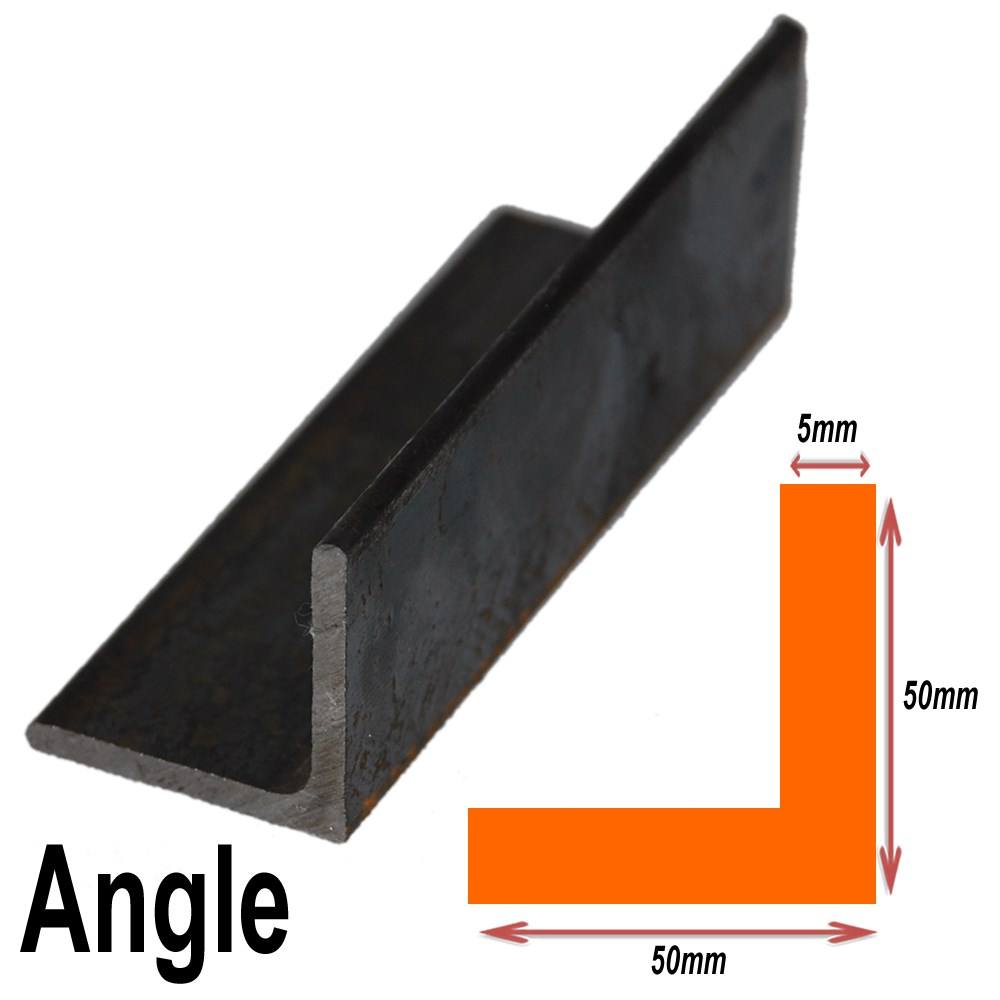 BLACK ANGLE 50MMX50MMX5MM 3.48KG /M