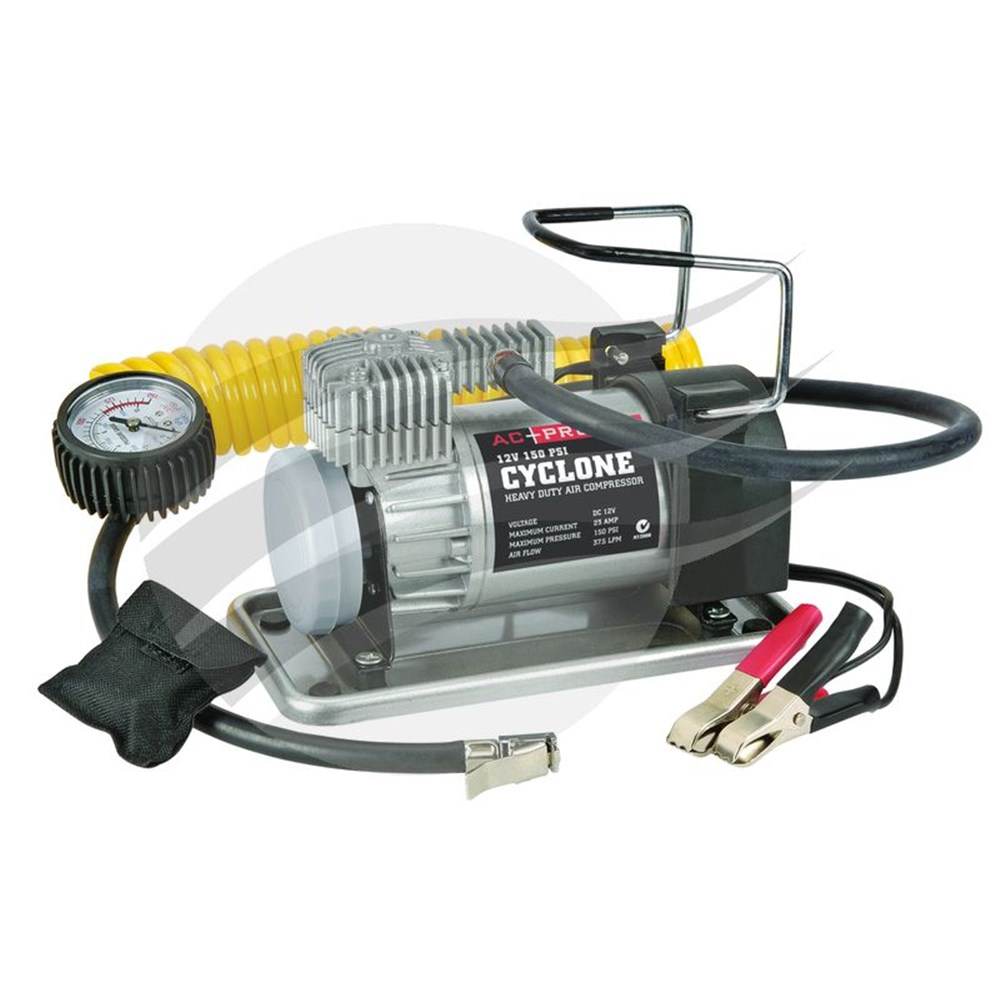 AC-PRO 12V AIR COMPRESSOR CYCLONE 37LPM - 150PSI - Collier Miller