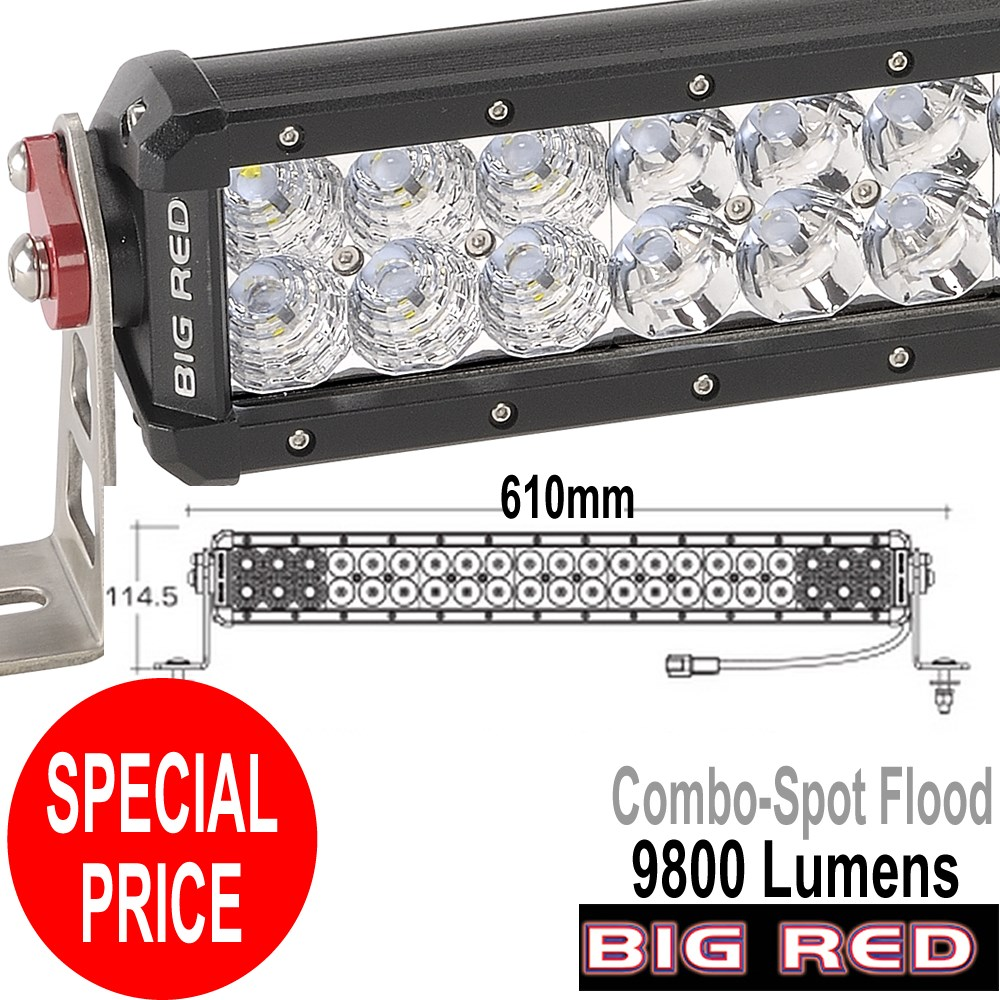 Big red 2 row light bar 610mm two row led light bar 9800 lumen 42 x big red 2 row light bar 610mm two row led light bar 9800 lumen 42 x aloadofball Image collections
