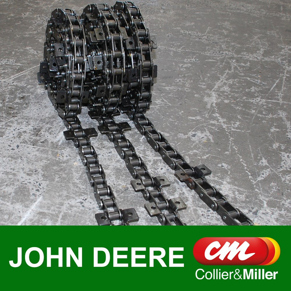 "JOHN DEERE CHAINS ONLY CHROME CA557 8-6/2-8 3 ROW 112L 28B 21.5"" BAR STS 60 70 80 SERIES"