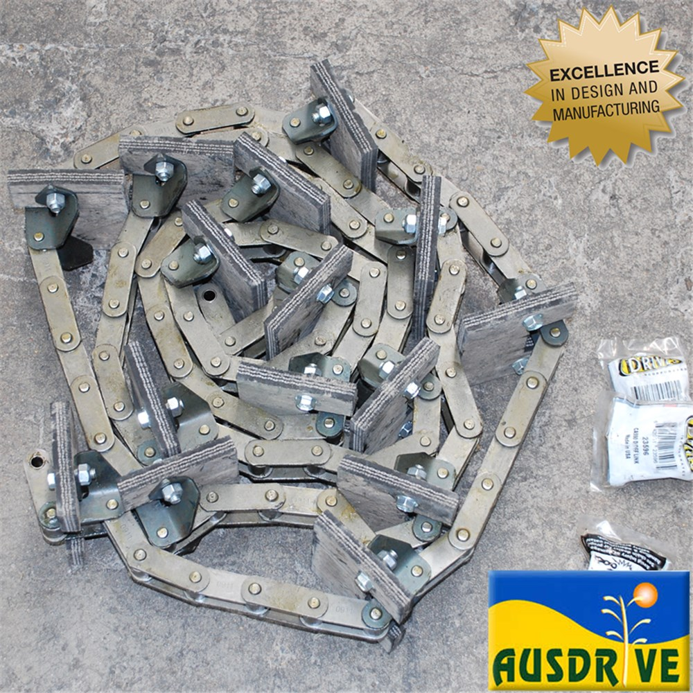 NEW HOLLAND RETURN GRAIN CHAIN CA550 6THTH 90 LINKS 15 PADDLE 8060/8070/8080