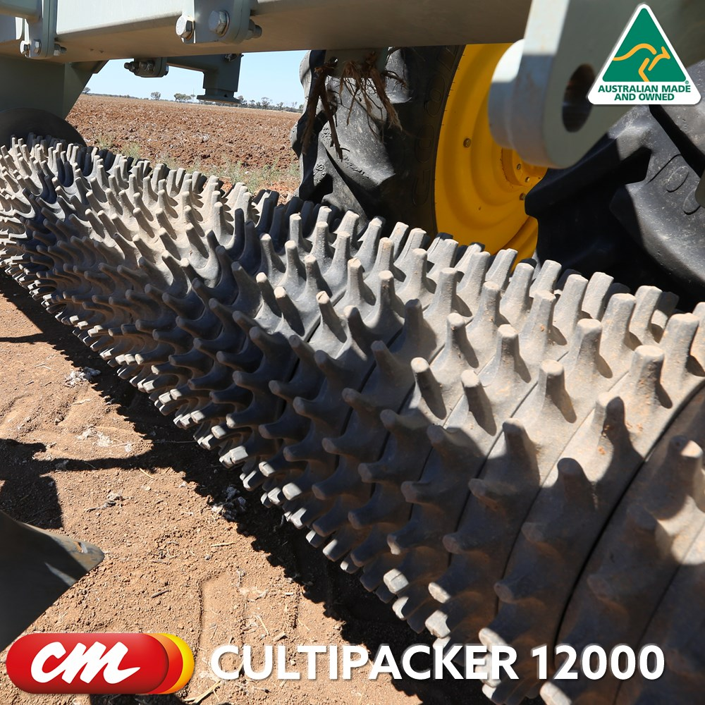 CME CULTIPACKER 12000 SERIES 12 METRE CLOD BUSTER OR LOOSE RING ROLLER