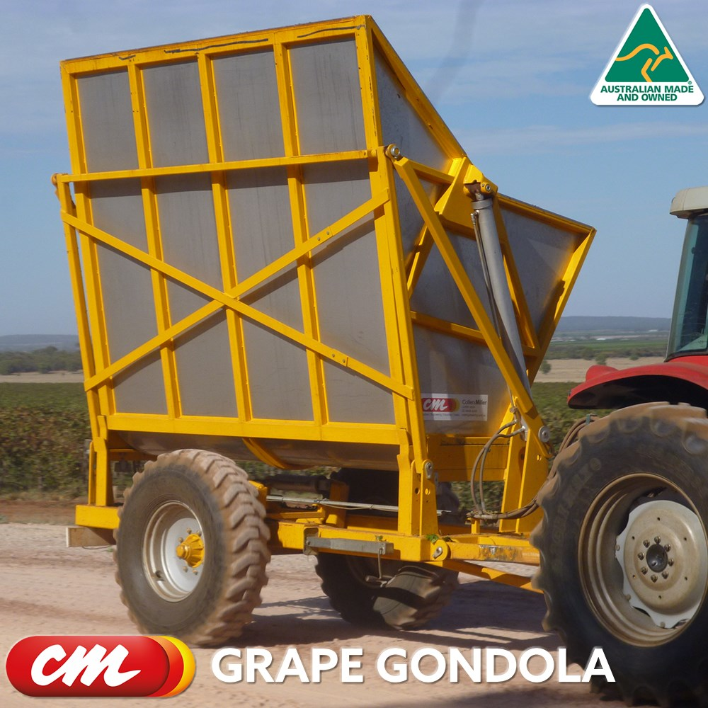 CME STAINLESS STEEL GRAPE BIN TRACTOR REMOTE HYDRAULICS