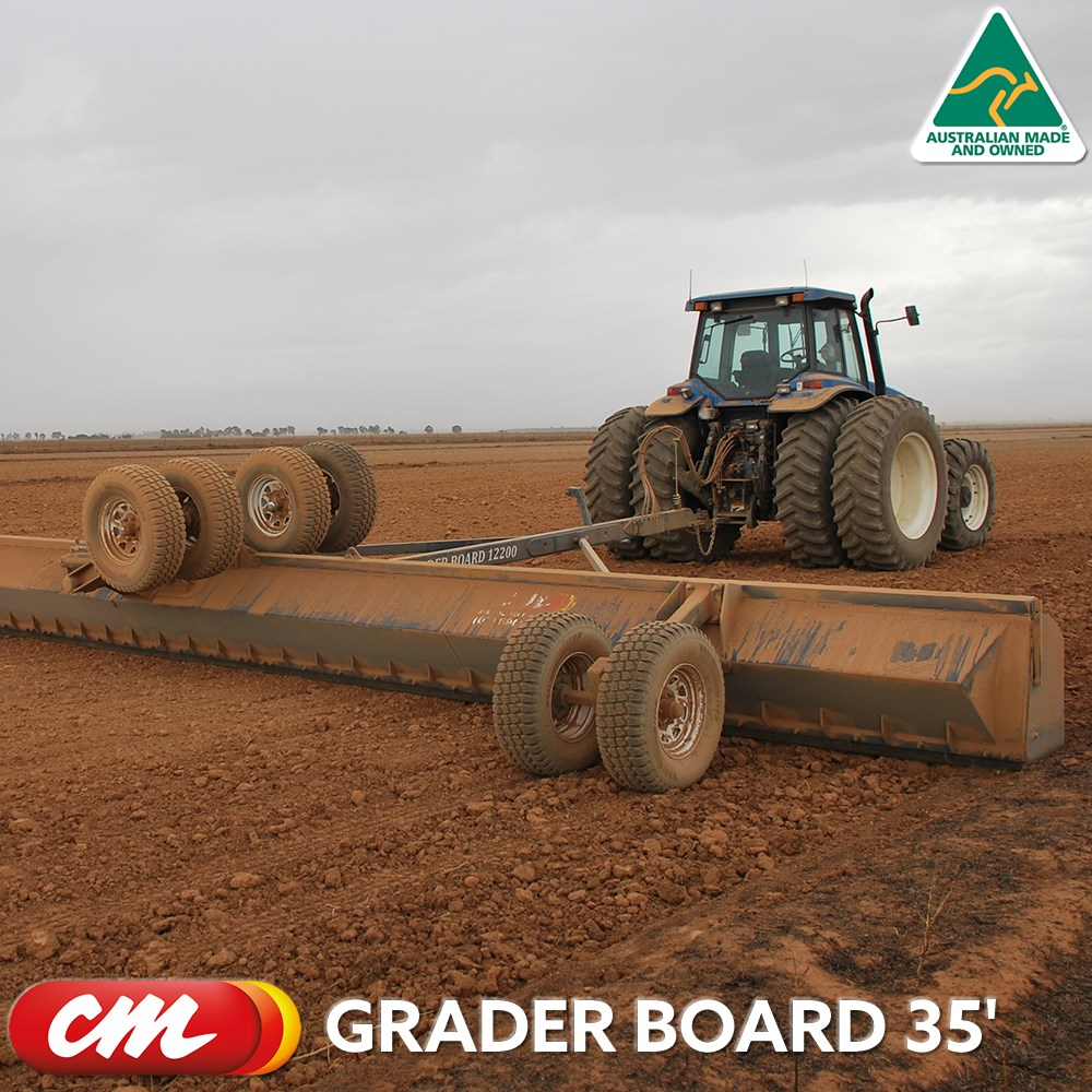 CME GRADER BOARD 35' HYDRAULIC SMUDGER BOARD