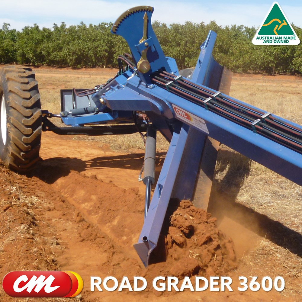 CME ROAD GRADER 3600 SERIES TOW BEHIND DESIGN 12' (3600MM) BLADE