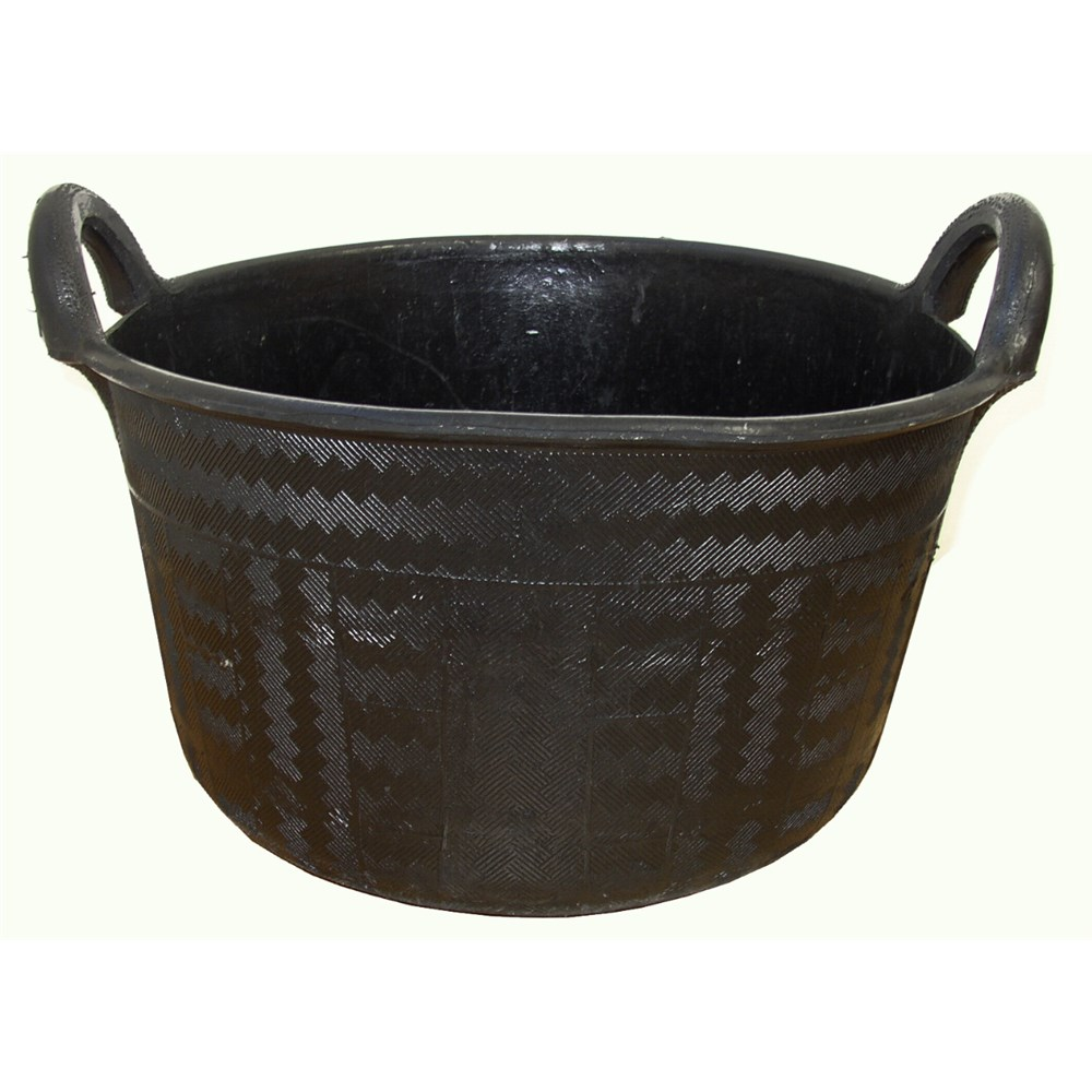 Ryset Rubber Feed Bucket 37 Litre With Moulded Handles