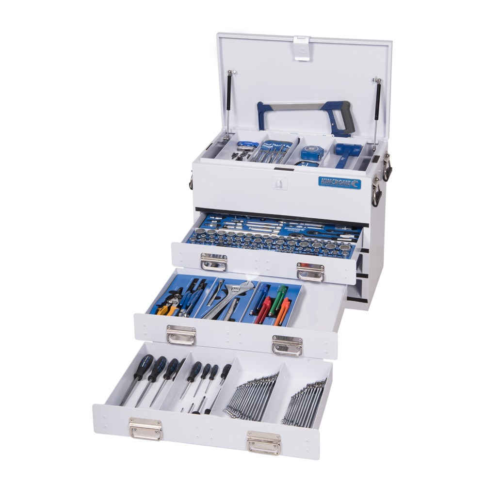 KINCROME TOOL KIT 219 PIECE 3 DRAWER UPRIGHT TRUCK BOX WHITE