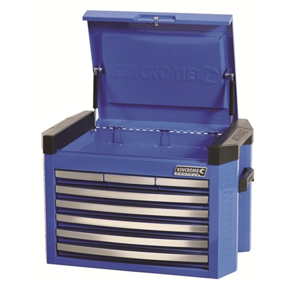 KINCROME TOOLKIT 329 PIECE 15 DRAWER TOOL CHEST & TROLLEY WORKSHOP ELECTRIC BLUE