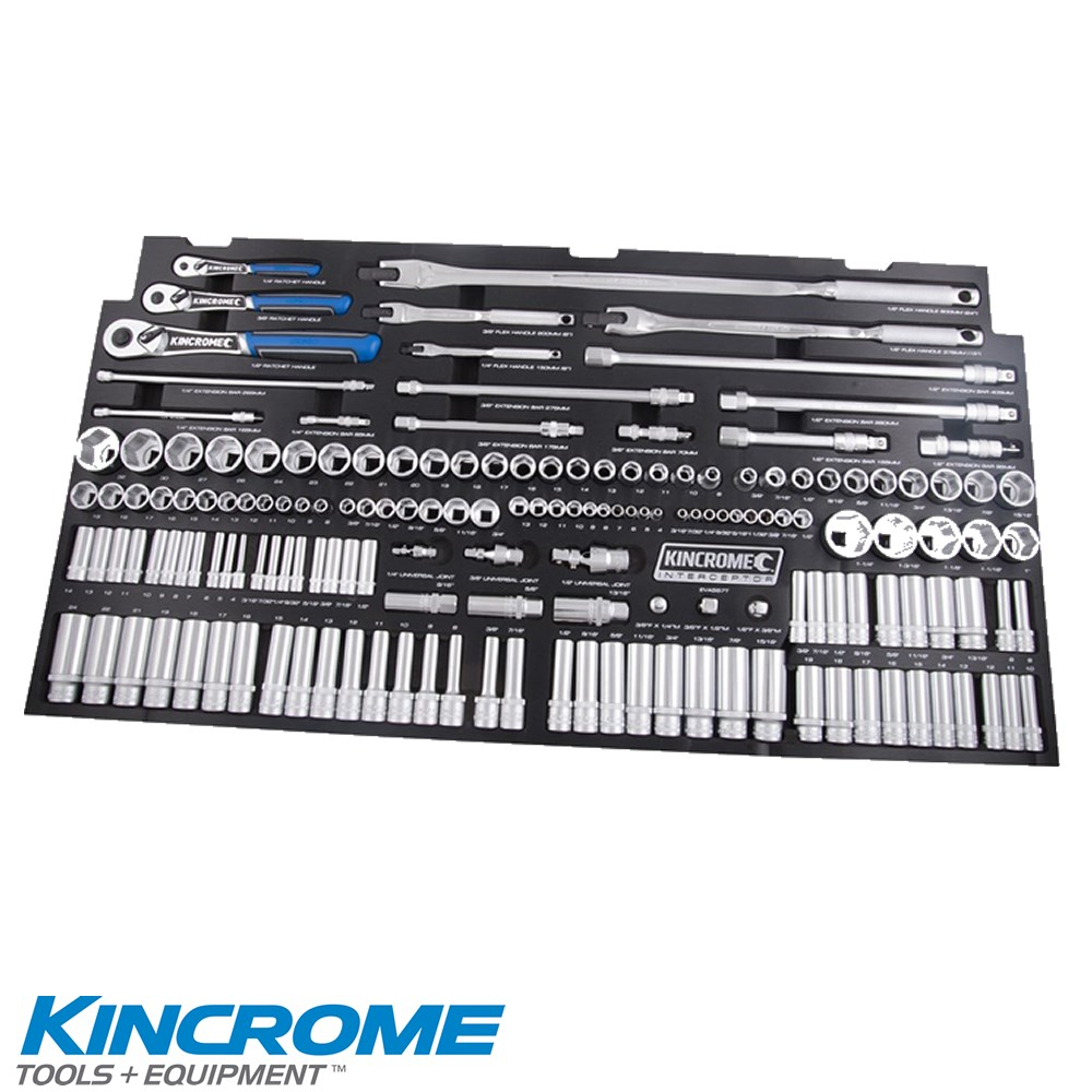 KINCROME TOOLKIT 557 PIECE 22 DRAWER TOOL CHEST & TROLLEY CONTOUR INTERCEPTOR BLACK