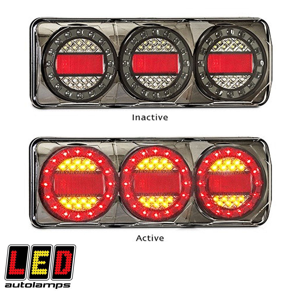 LED MAXILAMP STOP-TAIL-IND LED AUTOLAMPS REAR COMBINATION L=370MM W=135MM