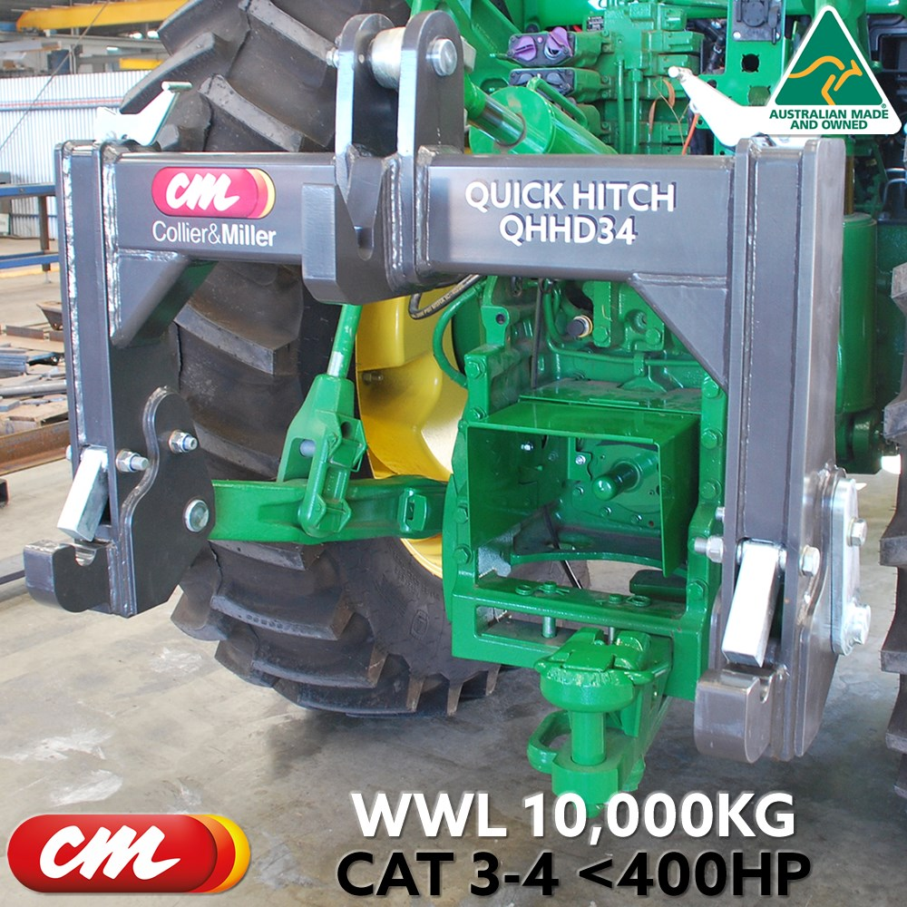 3 POINT LINKAGE QUICK HITCH CAT 4 TRACTOR >CAT 3 IMPLEMENT HEAVY DUTY WLL 10,000KG <400HP