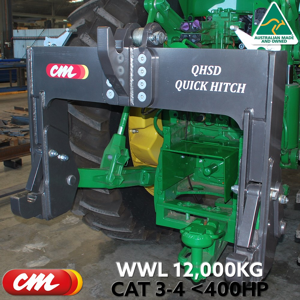 3 POINT LINKAGE QUICK HITCH CAT 4 TRACTOR CAT3-4 IMPLEMENT SUPER DUTY WLL 12,000KG <400HP